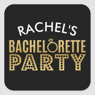 Bridal Party gold Bachelorette Party Stickers