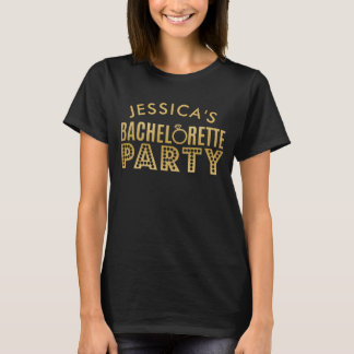 Bridal Party Gold Black Bachelorette Party t-shirt