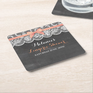 Bridal Party Lingerie Shower Lace Coasters Mats