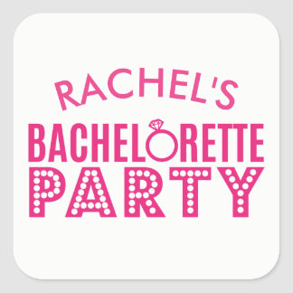 Bridal Party Pink Bachelorette Party Stickers