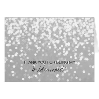 Bridal Party Thank You Card - Sparkling Grey