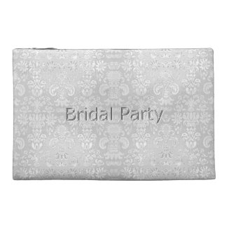 Bridal-Party-White-Damask-Wedding-Favor's Travel Accessory Bag