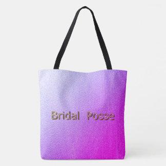 Bridal-Posse_Tropic Sunset-Bronze-Multi-Sz Tote Bag