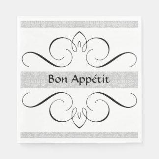 "Bridal-Satin-""Bon Appétit "" Paper Napkins"