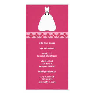 Bridal Shower Argyle Photo Cards