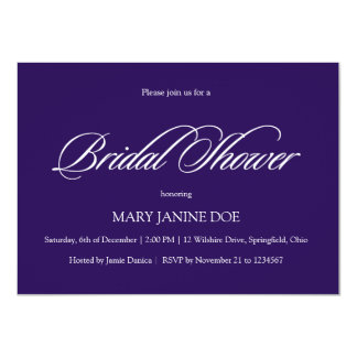 Bridal Shower Aubergine Simple & Affordabble Card