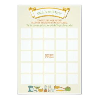 "Bridal Shower Bingo Game 5"" X 7"" Invitation Card"