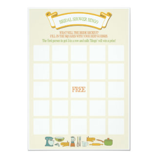 Bridal Shower Bingo Game Card