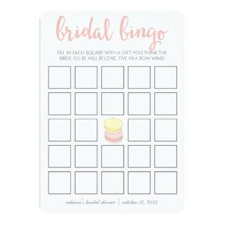 "Bridal Shower Bingo Game Card | French Macarons 5"" X 7"" Invitation Card"