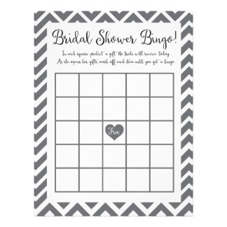 Bridal Shower Bingo Game Personalized Letterhead