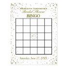 Bridal Shower Bingo   Gold Confetti Postcard