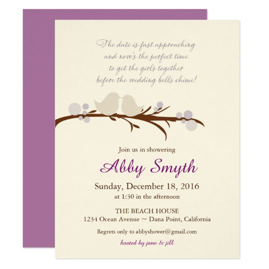 Bridal Shower Branch & Birds Invite