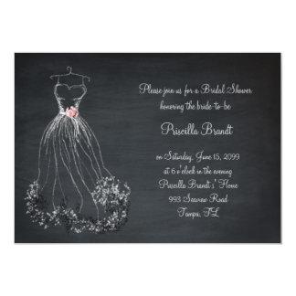 Bridal Shower, chalkboard, dreams dress, peonies Card