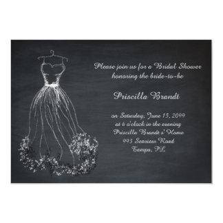 Bridal Shower, chalkboard, dreams dress stylized Card