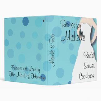 Bridal Shower Cookbook - Blues Vinyl Binder