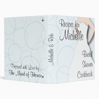 Bridal Shower Cookbook - Circles Vinyl Binder