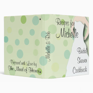 Bridal Shower Cookbook - Greens Vinyl Binders