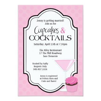 Bridal Shower Cupcakes and Cocktails Card
