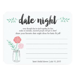 Bridal Shower Date Night Idea Card | Mason Jar