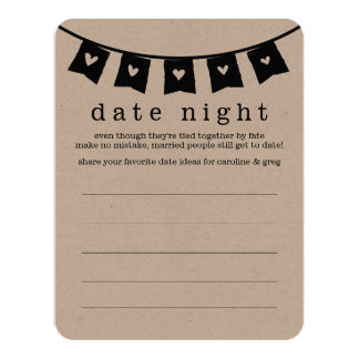 Bridal Shower Date Night & Vacation Idea Cards