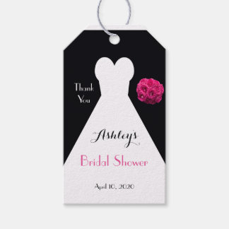 Bridal Shower Dress and Roses Thank You Favor Pack Of Gift Tags