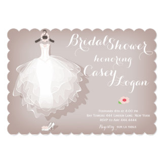 Bridal Shower Dress Invitation