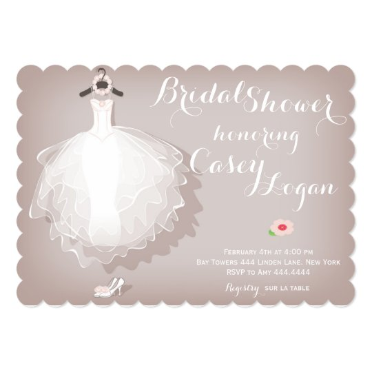 Bridal Shower Dress Invitation