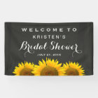 Bridal Shower Elegant Sunflower Chalkboard Welcome Banner