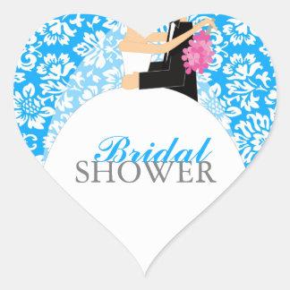 Bridal Shower Envelope Seal Heart Sticker