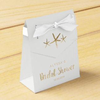Bridal Shower Favor Box - Beach, Ocean, Starfish