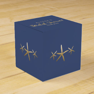 Bridal Shower Favor Box, Customize, Beach Starfish Favor Box