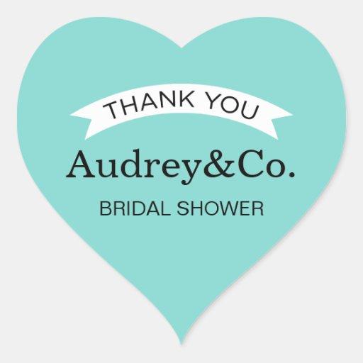 Bridal Shower Favor Stickers | Little Blue Box