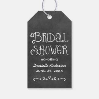 Bridal Shower Favor Tag | Black Chalkboard Charm