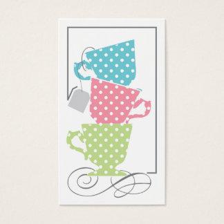 Bridal Shower Favor Tag - Tea Business Card