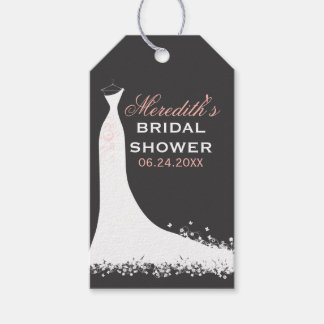 Bridal Shower Favor Tags   Wedding Gown Pack Of Gift Tags