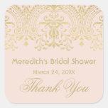 Bridal Shower Favour Sticker   Gold Vintage