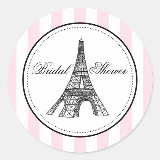 Bridal Shower Favour Sticker | Paris France Theme