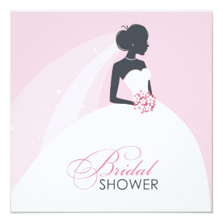 Bridal Shower Flat Card Invitation