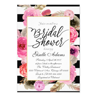 Bridal shower floral pink of pinks card