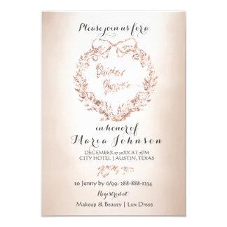 Bridal Shower Floral Wreath Ivory Pink Ivory Beige Card
