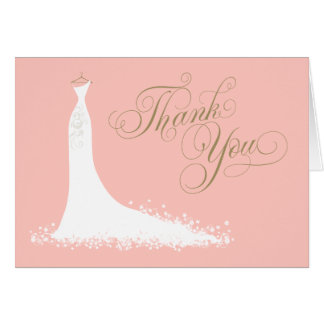 Bridal Shower Folded Thank You Card | Wedding Gown