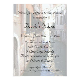 Bridal Shower for Venetian Theme Wedding Card