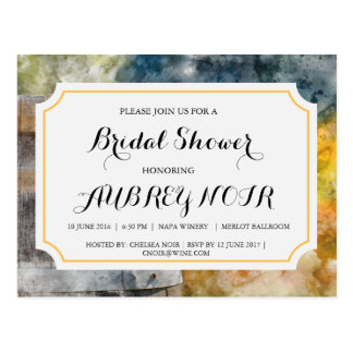 Bridal Shower for Vineyard or Winery Wedding Postcard