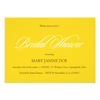 Bridal Shower Freesia Yellow Announcement