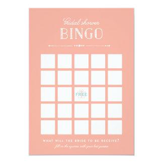 "Bridal Shower Game - Bingo 5"" X 7"" Invitation Card"