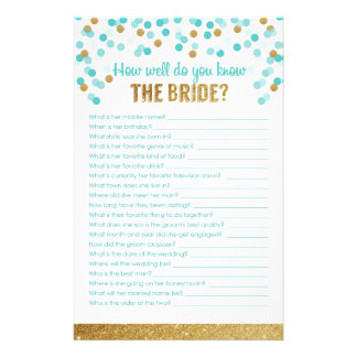 Bridal Shower Game How well do you know the bride? Stationery Paper