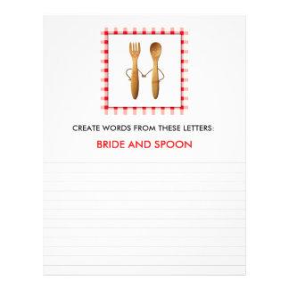 BRIDAL SHOWER GAMES FULL COLOR FLYER