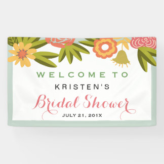 Bridal Shower Garden Blooming Flowers Nature Banner