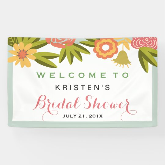 Bridal Shower Garden Blooming Flowers Nature Banner