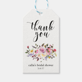 Bridal Shower Gift Tags for Party Favors Floral Pack Of Gift Tags